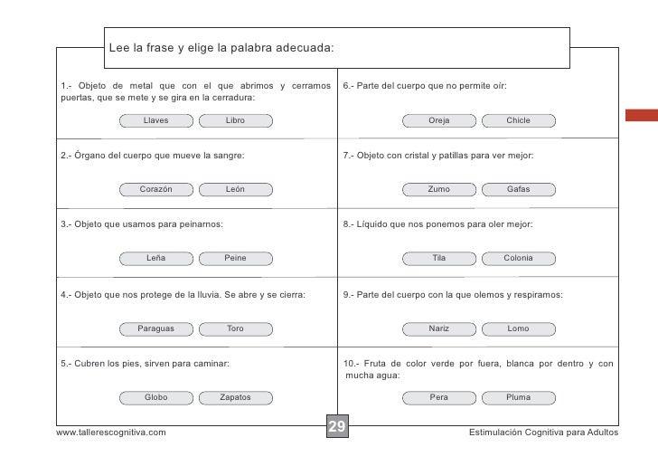 Lee la frase y elige la palabra adecuada:             Escribir las instrucciones... 1.- Objeto de metal que con el que abr...