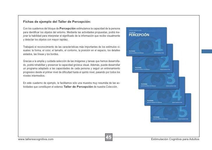 Fichas de ejemplo del Taller de Percepción:   Con los cuadernos del bloque de Percepción estimulamos la capacidad de la pe...
