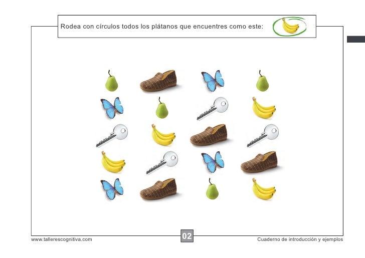 Rodea las instrucciones...            Escribircon círculos todos los plátanos que encuentres como este:www.tallerescogniti...