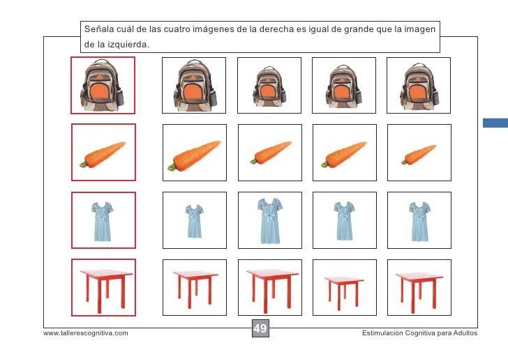 Señala cuál de las cuatro imágenes de la derecha es igual de grande que la imagen            Escribir las instrucciones......