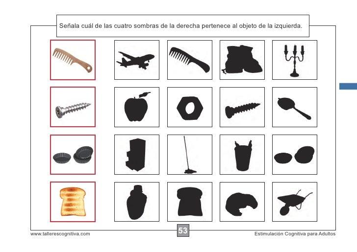 Señala las de las cuatro sombras de la derecha pertenece al objeto de la izquierda.            Escribircuál instrucciones....