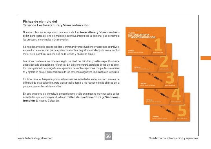 Fichas de ejemplo del   Taller de Lectoescritura y Visocontrucción:   Nuestra colección incluye cinco cuadernos de Lectoes...