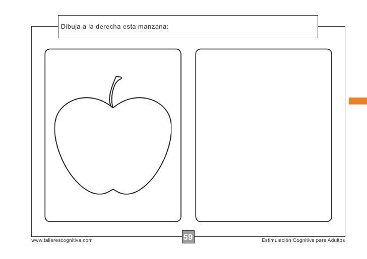 Dibuja a la instrucciones...            Escribir las derecha esta manzana:www.tallerescognitiva.com                       ...