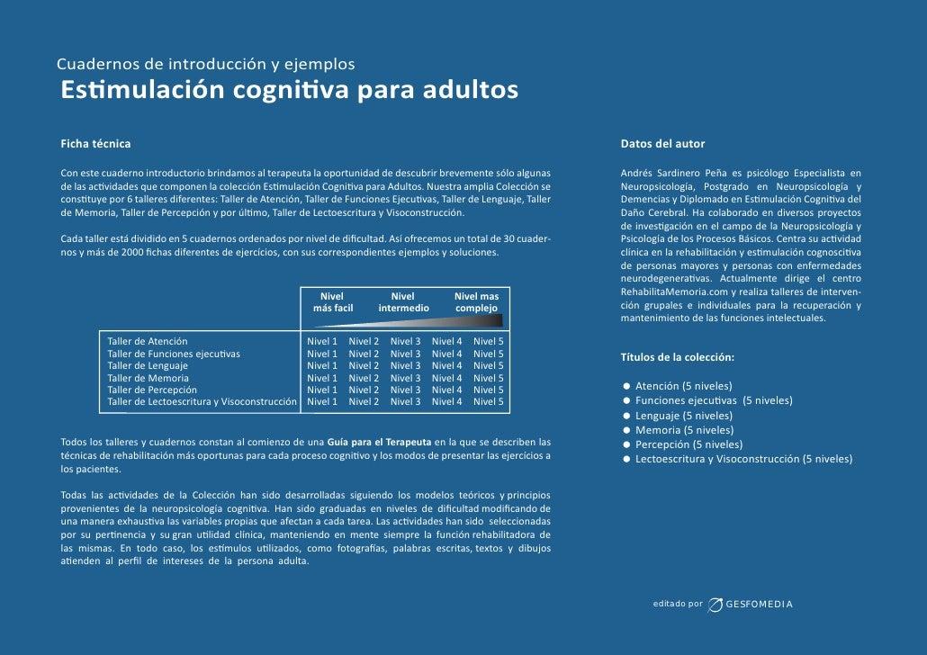 Cuadernos de introducción y ejemplosEs mulación cogni va para adultosFicha técnica                                        ...