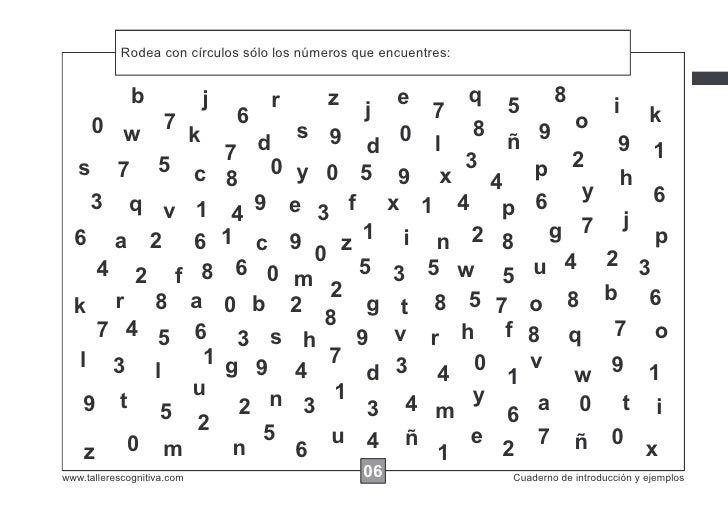 Rodea las instrucciones... números que encuentres:            Escribircon círculos todos los xxxxx que encuentres como est...