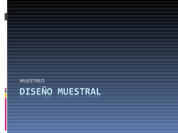 MUESTREO