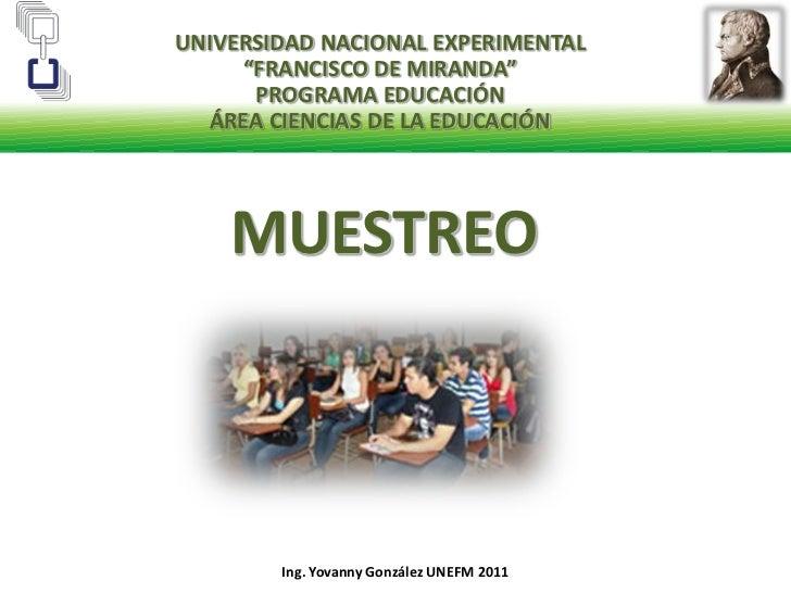 """UNIVERSIDAD NACIONAL EXPERIMENTAL                   """"FRANCISCO DE MIRANDA""""<br />PROGRAMA EDUCACIÓN<br />ÁREA CIENCIAS DE L..."""