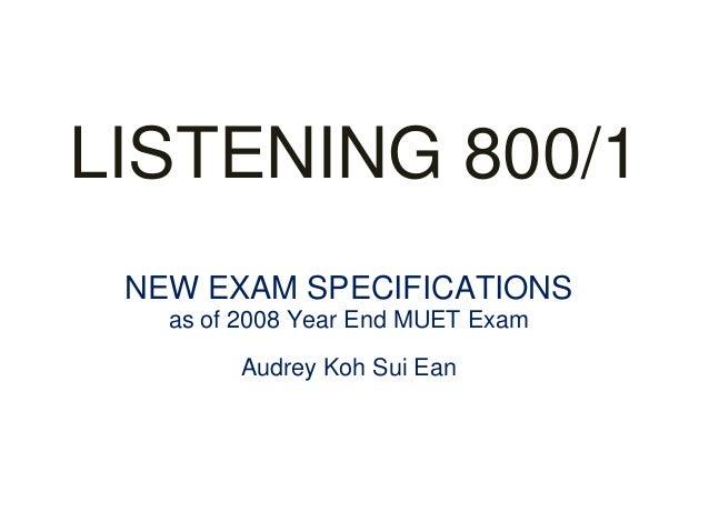 Muet Year End 2008 Essay