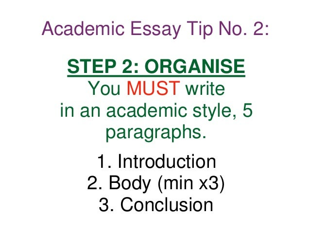 steps to take when writing an academic essay