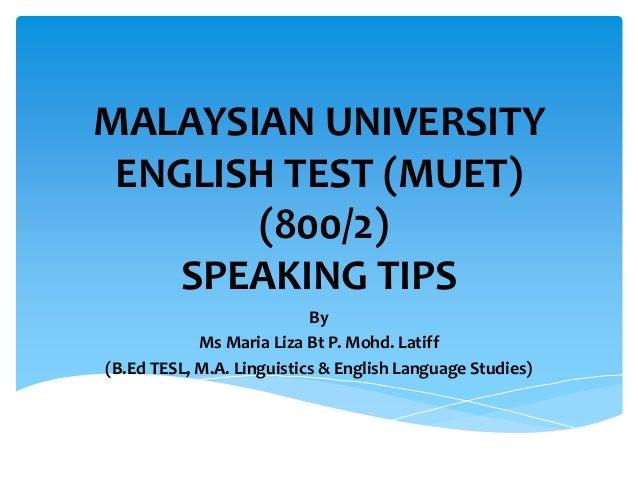 muet speaking test