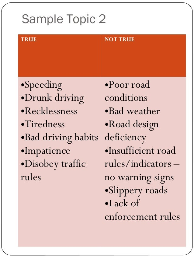 exemplification essay driving bad habits