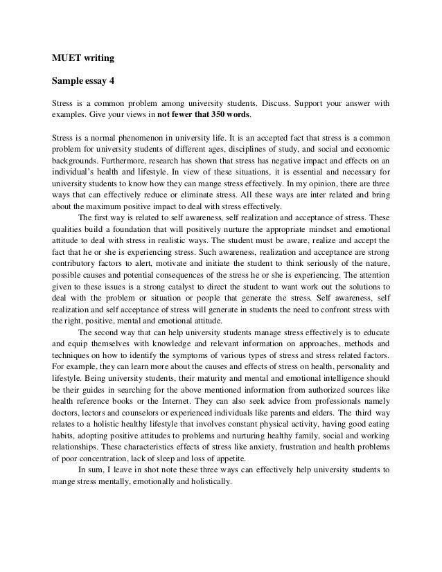 Muet stpm essay