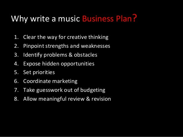 Music Industry Business Plan: Live and Recorded Music