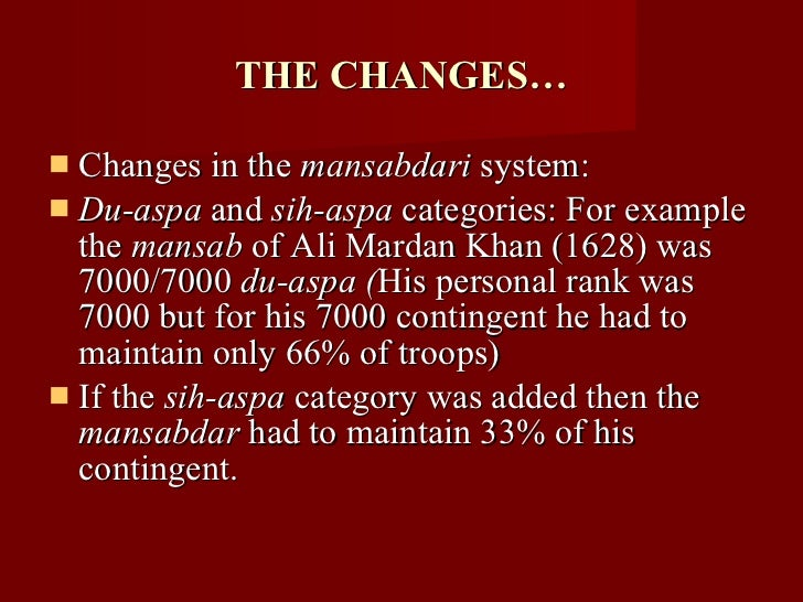 the mansabdari system Mansabdari system 1 the researcher has used secondary sources of reference  for the purpose of this project and the methodology used in this project is.