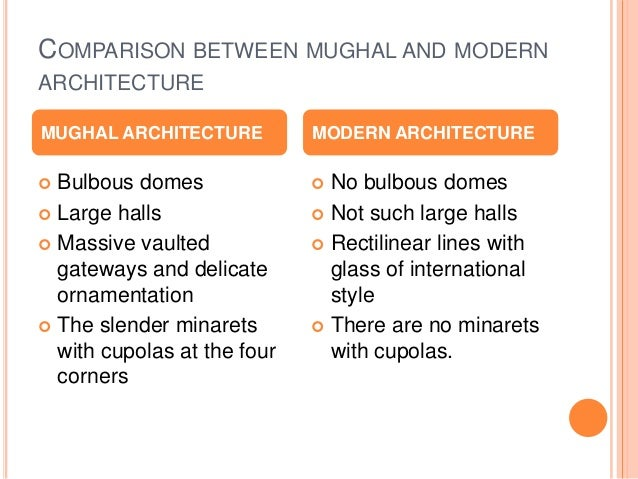 Mughal vs modern for Difference between modern and contemporary design
