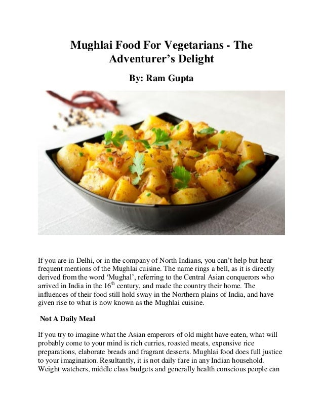 Mughlai food for vegetarians pdf mughlai food for vegetarians the adventurers delight by ram gupta if you are in forumfinder Choice Image