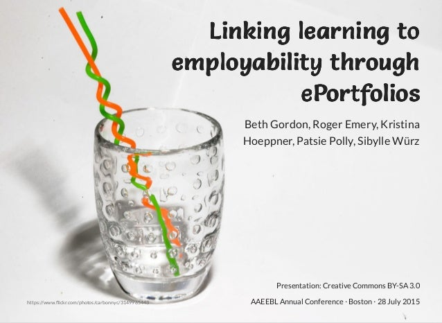 Linking learning toLinking learning toLinking learning toLinking learning to employability throughemployability throughemp...