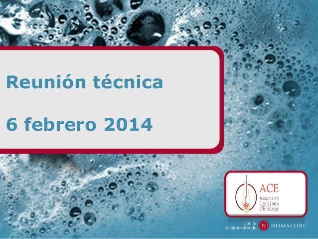Reunión técnica 6 febrero 2014