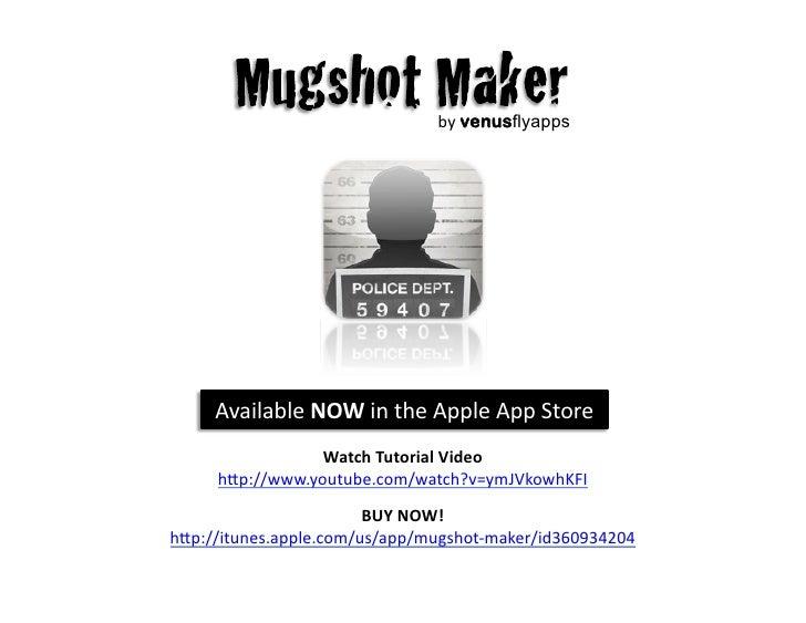 Mugshot sign generator