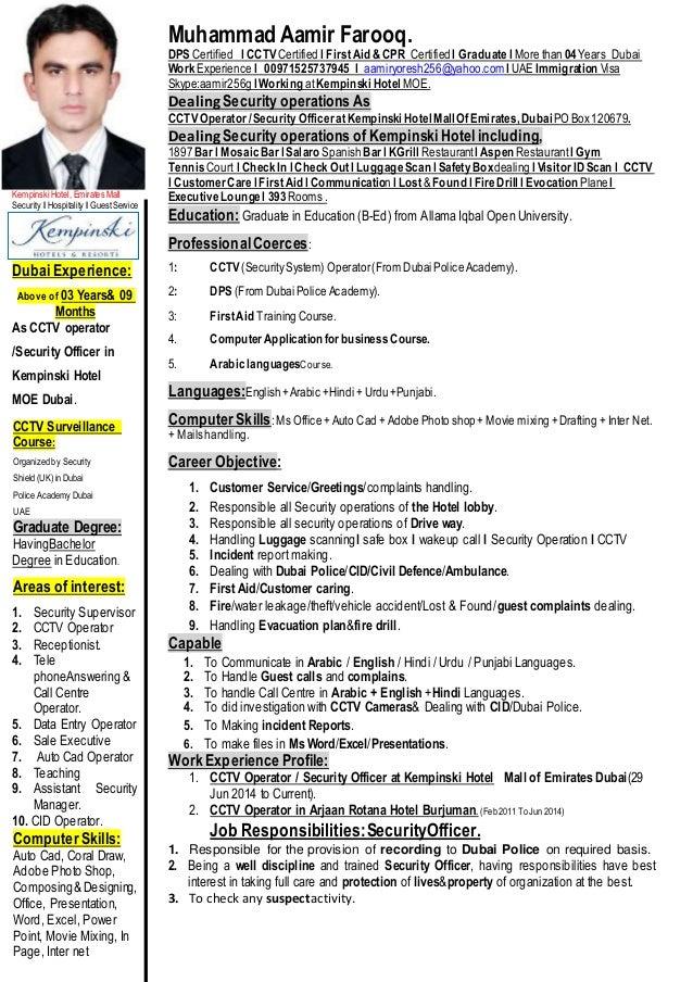 Muhammad Aamir S Cv Latest Updated