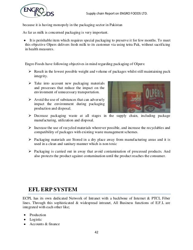engro foods limited supply chain View essay - engro supply chain from supply cha 452 at virtual university of pakistan supply chain report on engro foods ltd supply chain management final report on acknowledgement we.