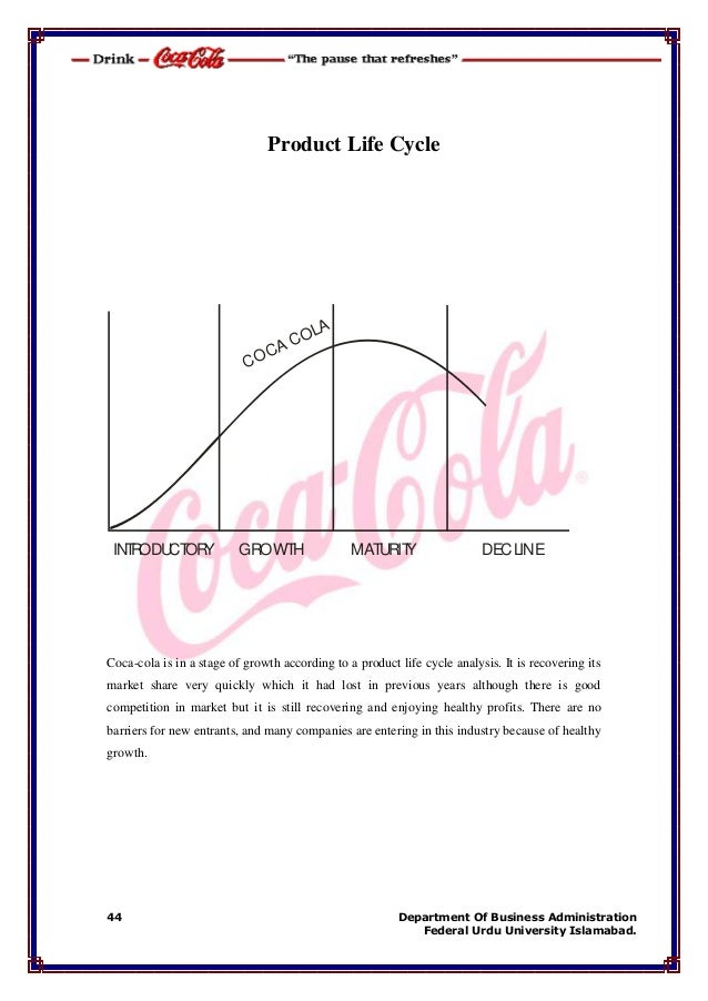 business life cycle of coca cola