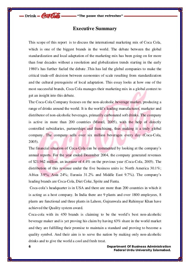 coca cola company operations pakistan marketing essay If the coca cola company didn't exist,  in indi or pakistan, coca cola is focused on reducing prices of  but the marketing strategy still focus on an.