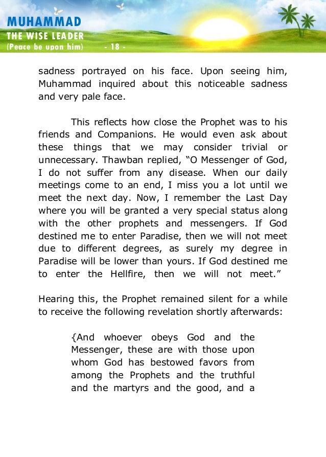 leadership principles of prophet muhammad Islam itself is a school and its prophet muhammad (pbuh)  prophet muhammad (pbuh) as a teacher, the principles of leadership, manners in islam,.