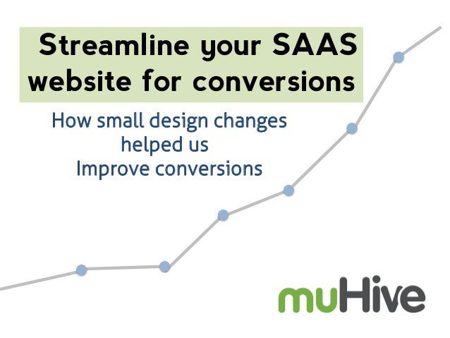 Streamline your SAAS website for conversions How small design changes helped us Improve conversions