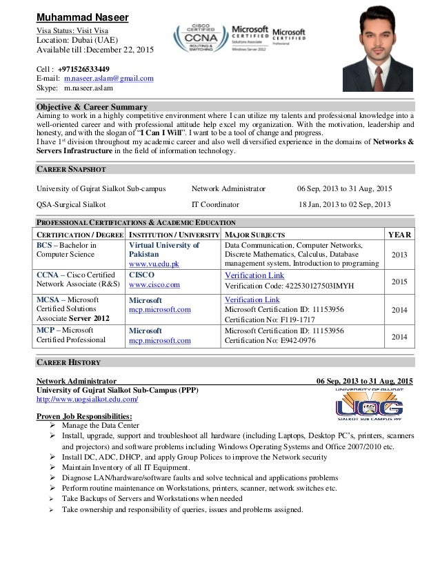 it network administrator resumes