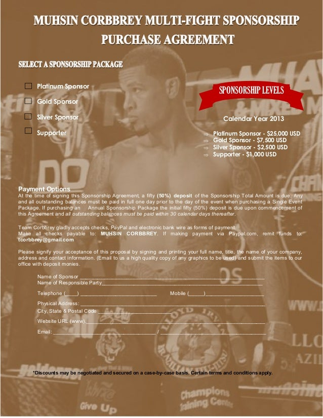 Marvelous SPONSORSHIP ... Regarding Athlete Sponsorship Proposal Template