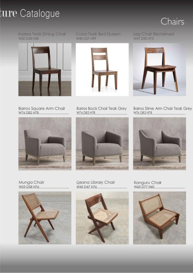Mui Teak Indoor Furniture Catalog 2019