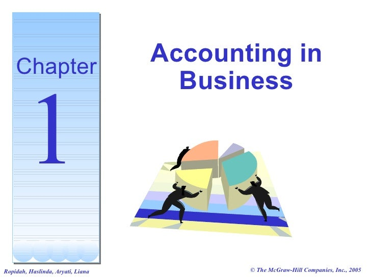 Accounting in     Chapter                                      Business          1                                        ...
