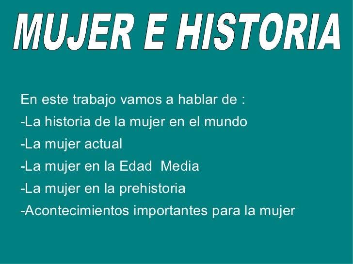 Mujer e historia