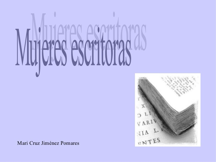 Mari Cruz Jiménez Pomares Mujeres escritoras