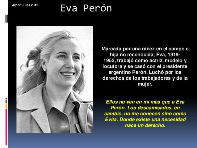 an analysis of mi mensaje by eva peron Academiaedu is a platform for academics to share research papers.
