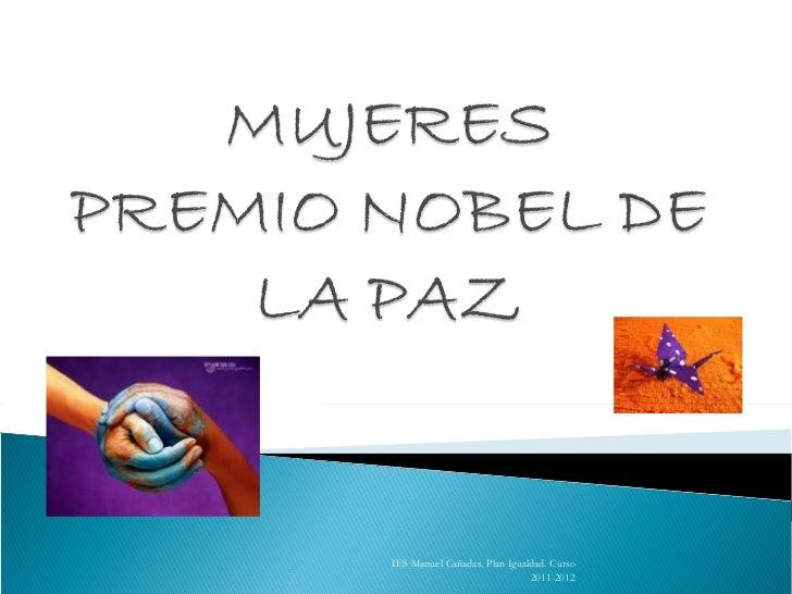 IES Manuel Cañadas. Plan Igualdad. Curso 2011-2012