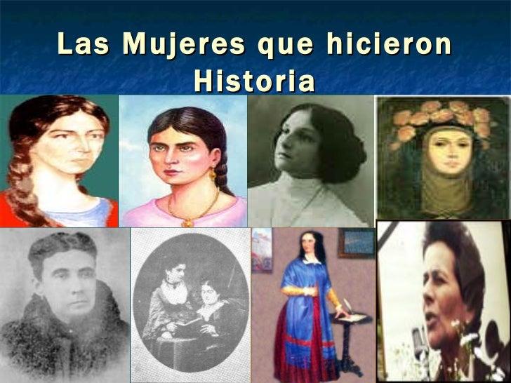 Las Mujeres que hicieron Historia
