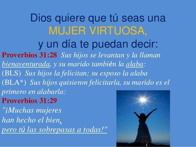 De temerosa dios virtuosa mujer 7 Cualidades