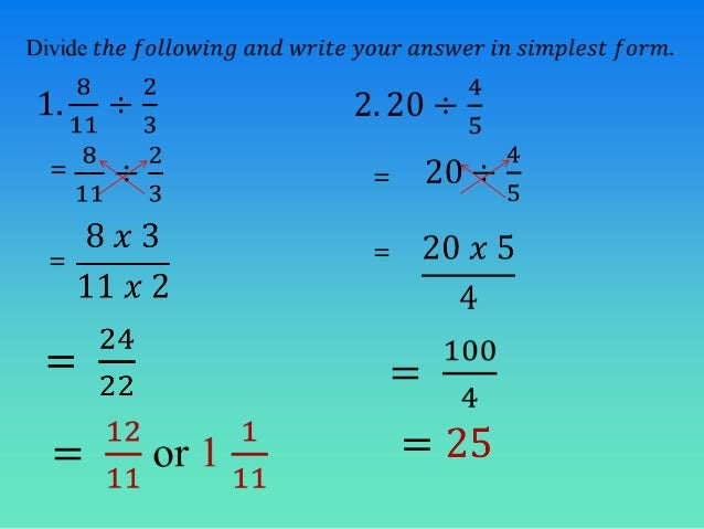 Multiplication And Division Of Fractions - Laptuoso