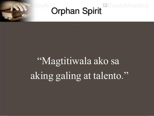 """Sonship Spirit """"Ang Ama sa langit ay mas kilala ako kaysa sa kilala ko ang sarili ko at mahal Nya ako."""""""