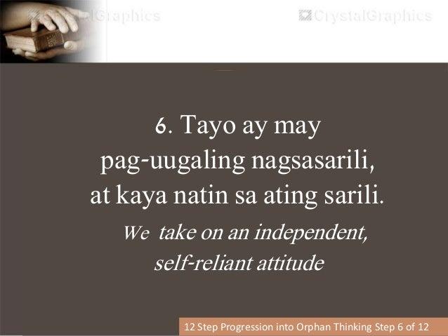7. Tayo ay nagsisimulang magkontrol ng relasyon (upang bantayan ang anumang sakit – kung sakali) 12 Step Progression into ...