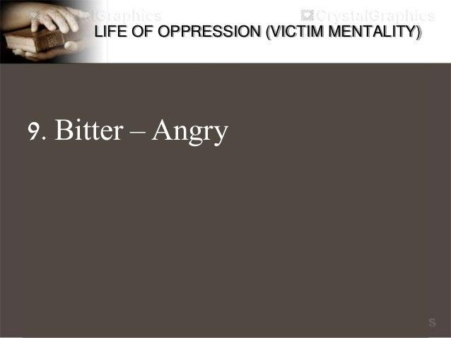 LIFE OF OPPRESSION (VICTIM MENTALITY) 10. Slander Paninirang puri