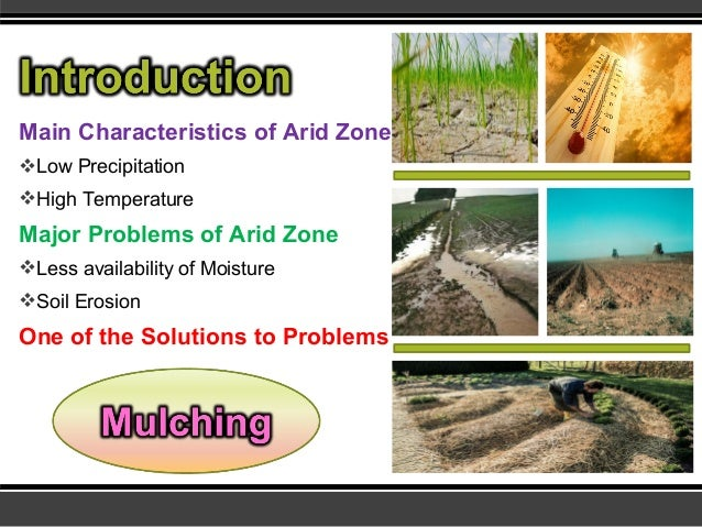 Mulching for soil and water conservation for Soil and water conservation