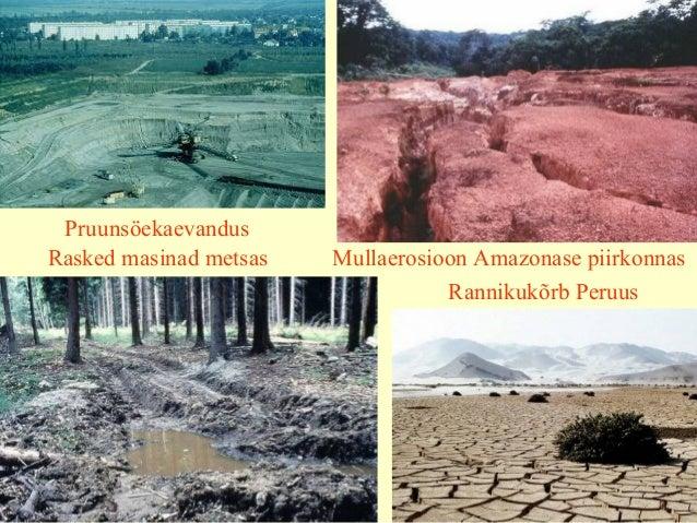 Rannikukõrb Peruus Mullaerosioon Amazonase piirkonnasRasked masinad metsas Pruunsöekaevandus