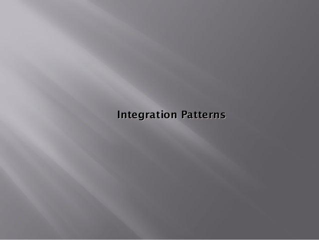Integration PatternsIntegration Patterns
