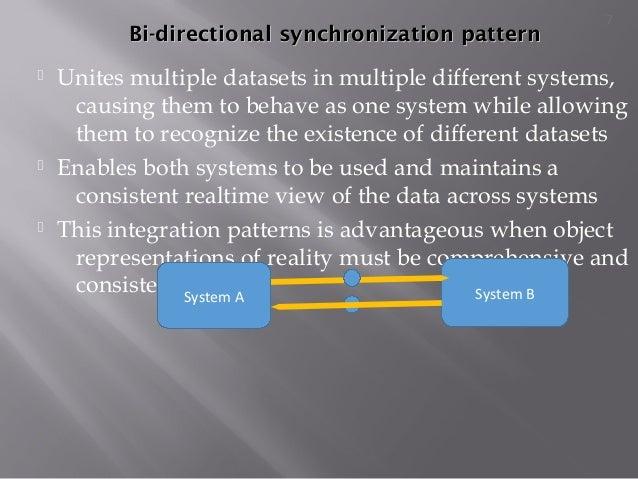 Bi-directional synchronization patternBi-directional synchronization pattern  Unites multiple datasets in multiple differ...
