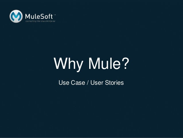 Why Mule? Use Case / User Stories