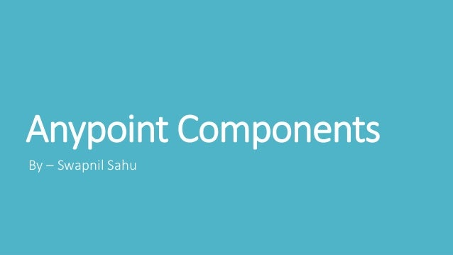 Anypoint Components By – Swapnil Sahu