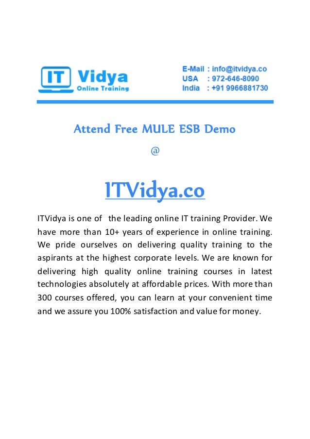 MULE ESB Online Training and Job Support